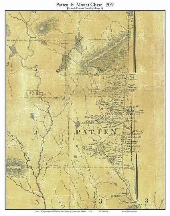 1859 Map of Patten